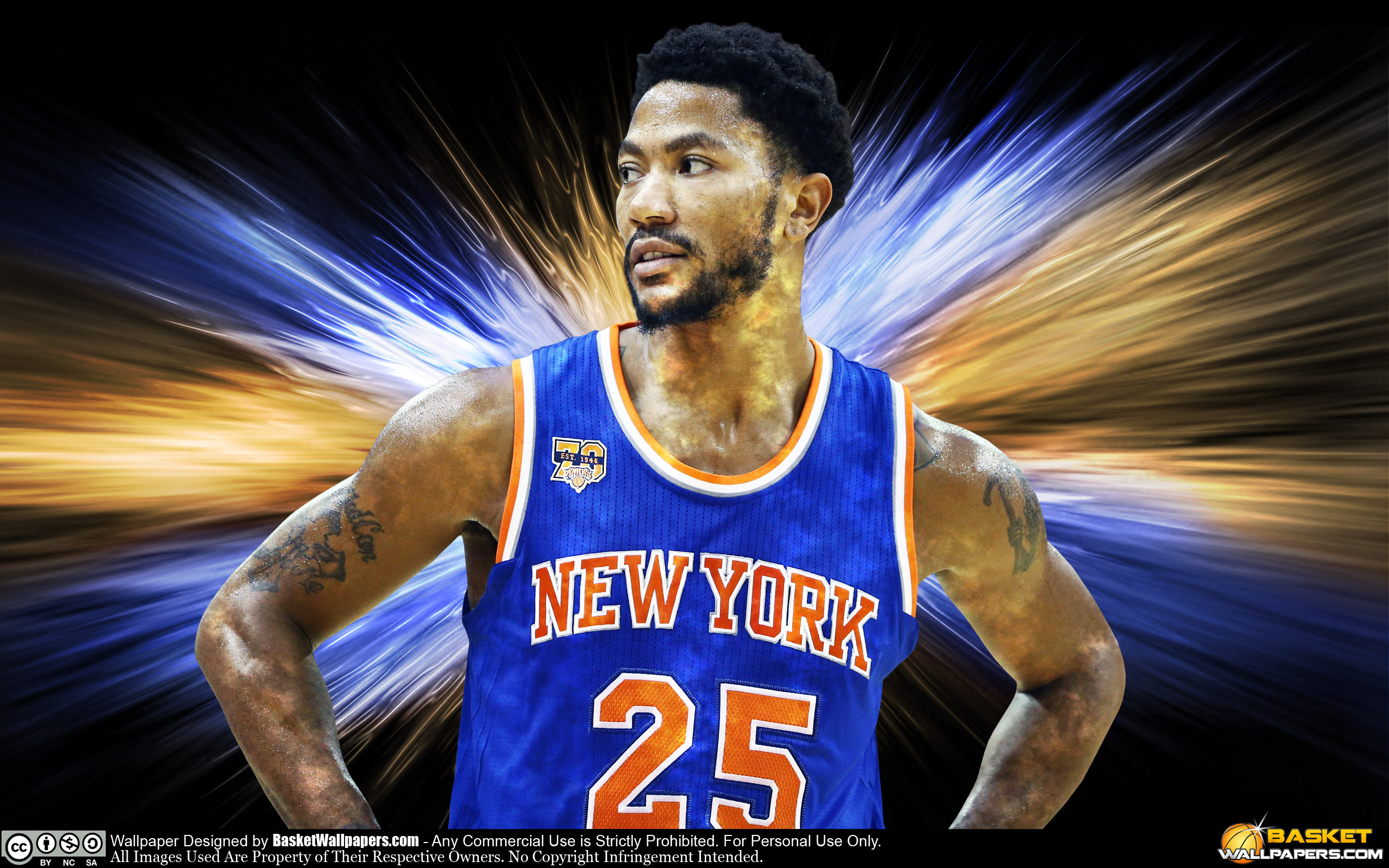 Derrick Rose New York Knicks 2016 Wallpaper