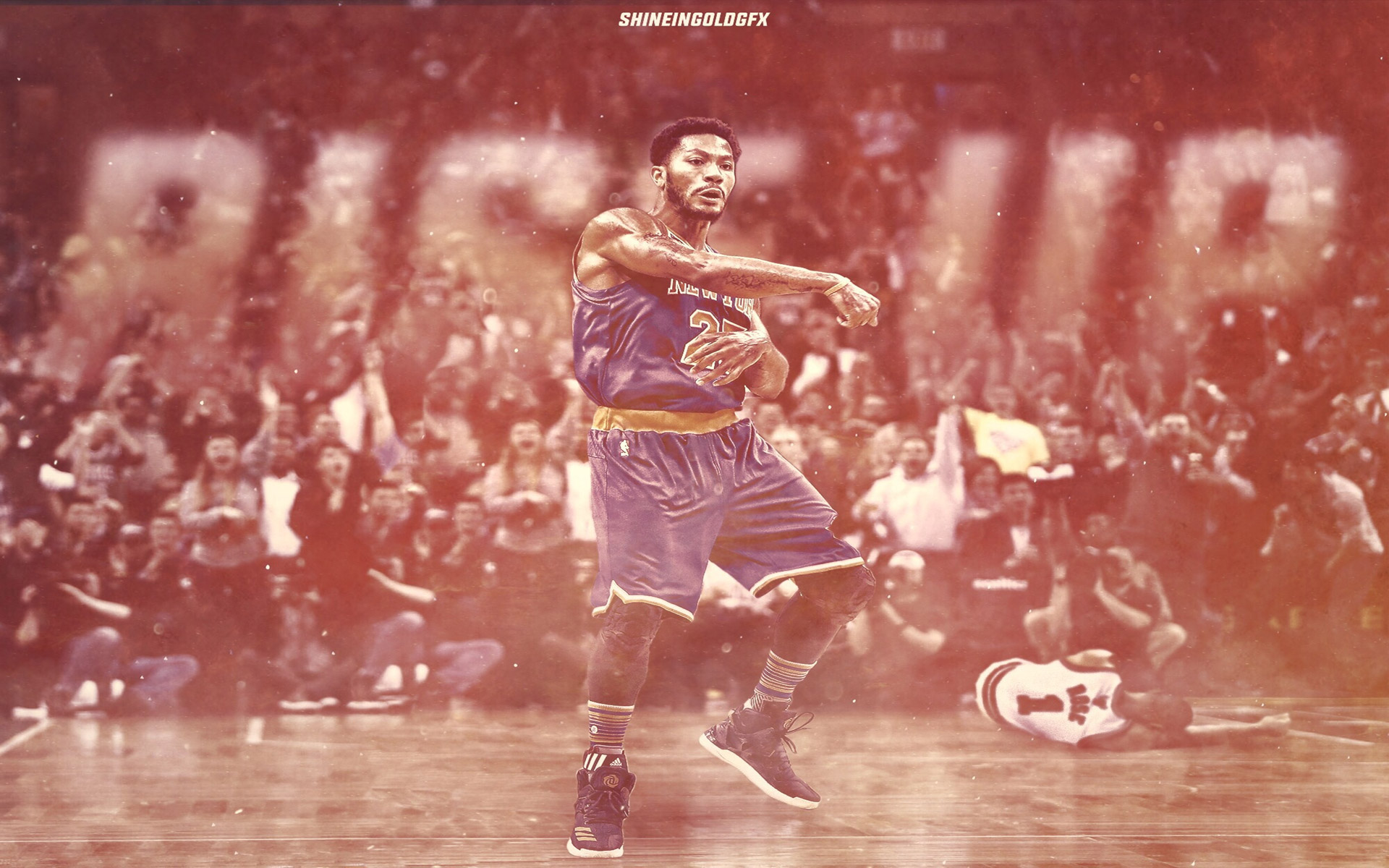 Derrick Rose Rise Up  X Wallpaper