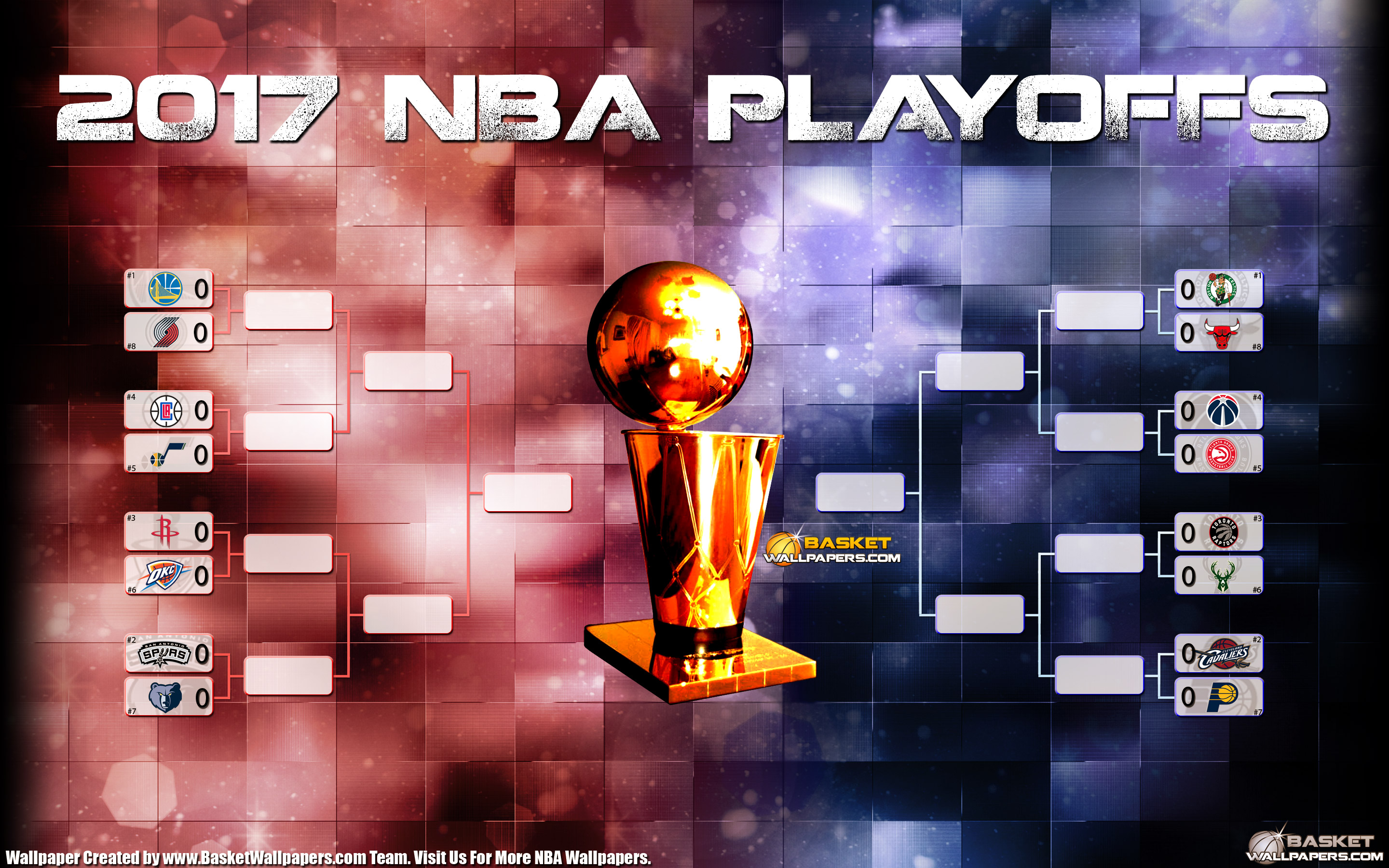 2017 NBA Playoffs Bracket 2880x1800 Wallpaper