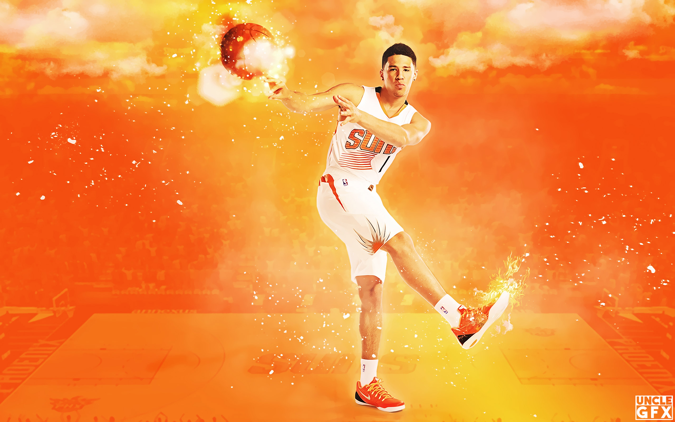 Devin Booker Suns 2017 Wallpaper