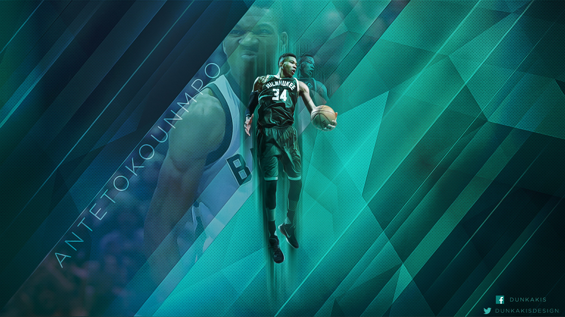 Giannis Antetokounmpo Bucks 2017 1920x1080 Wallpapers
