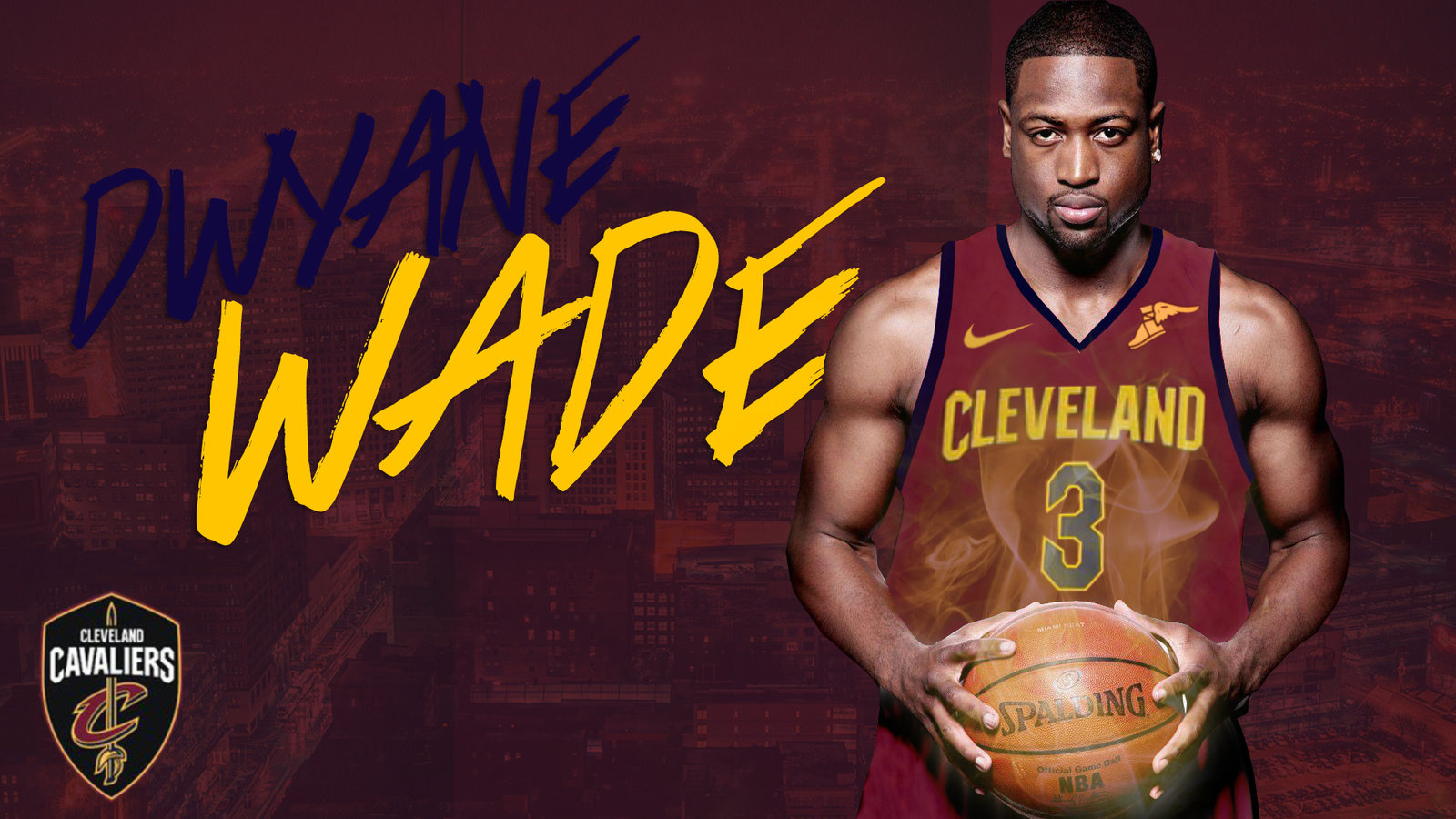 NBA Wallpapers. Dwyane Wade Cavaliers 2017 1600x900 Wallpaper