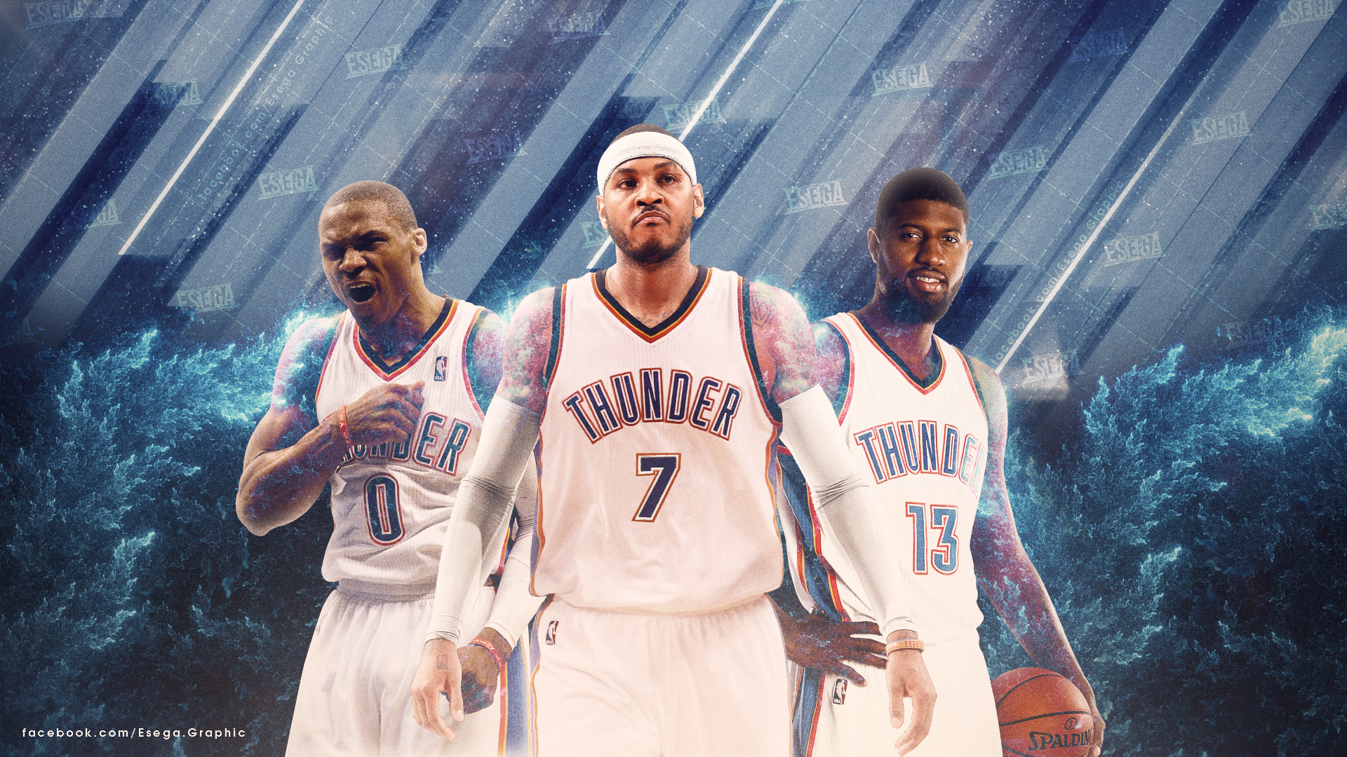 OKC Thunder Big 3 2017 1920x1080 Wallpaper