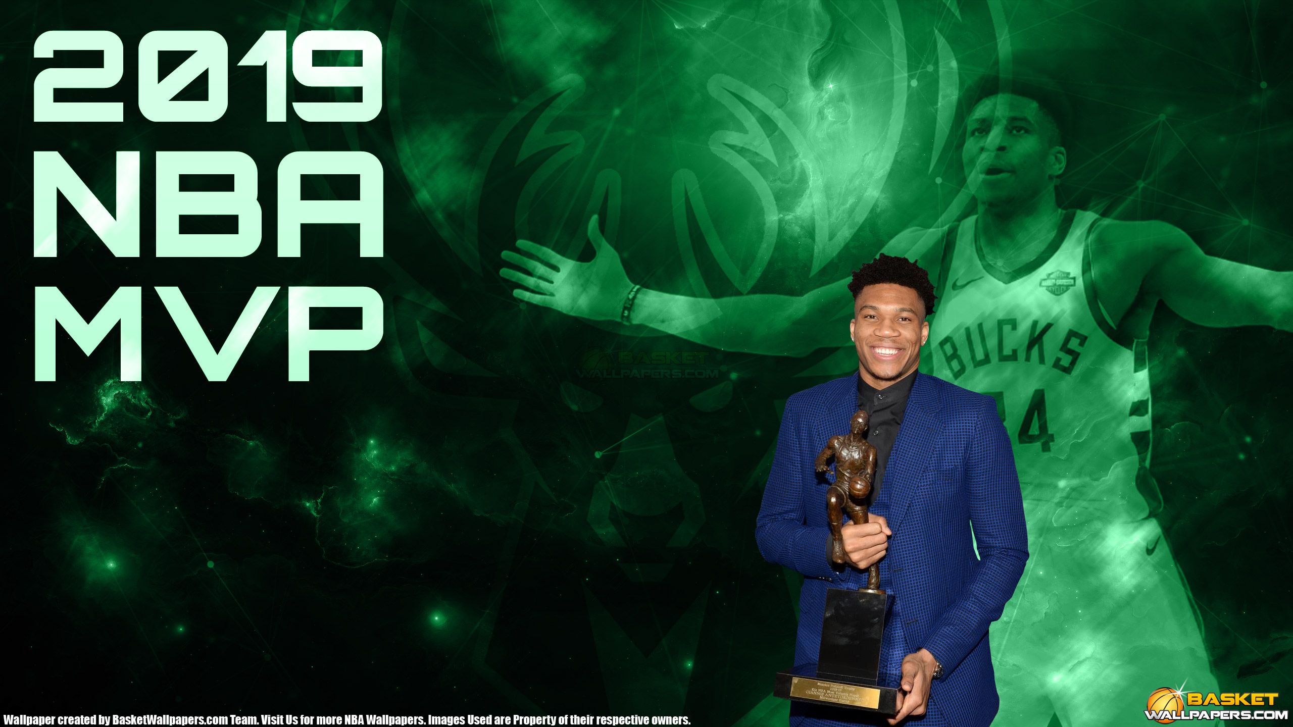 Giannis Antetokounmpo 2019 NBA MPV 2560x1440 Wallpaper